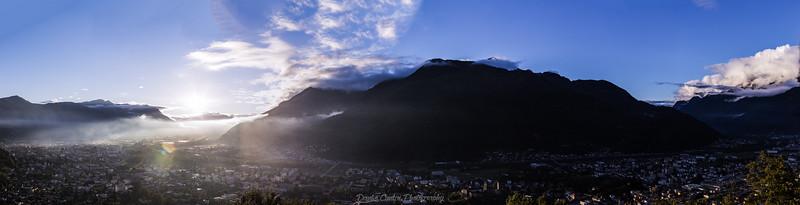 Panoramica di Bellinzona dopo il maltempo.