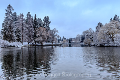 Winter At Mirror Pond, Bend, Oregon - 10