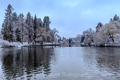 Winter At Mirror Pond, Bend, Oregon - 10