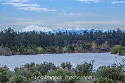 Deschutes River With Mount Bachelor in the Distance, Bend, Oregon - 21