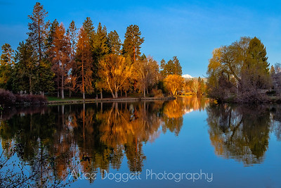Mirror Pond Reflections, Bend, Oregon - 2