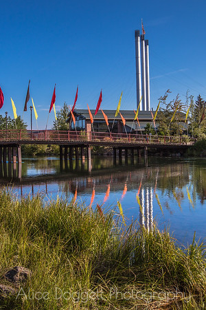 Flags and Stacks, Old Mill District, Bend, Oregon - 22