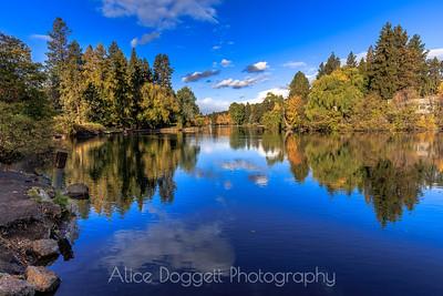 Mirror Pond Autumn Reflections, Bend, Oregon - 3