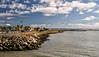 Benicia shoreline looking east towards the Benicia/Martinez Bridge