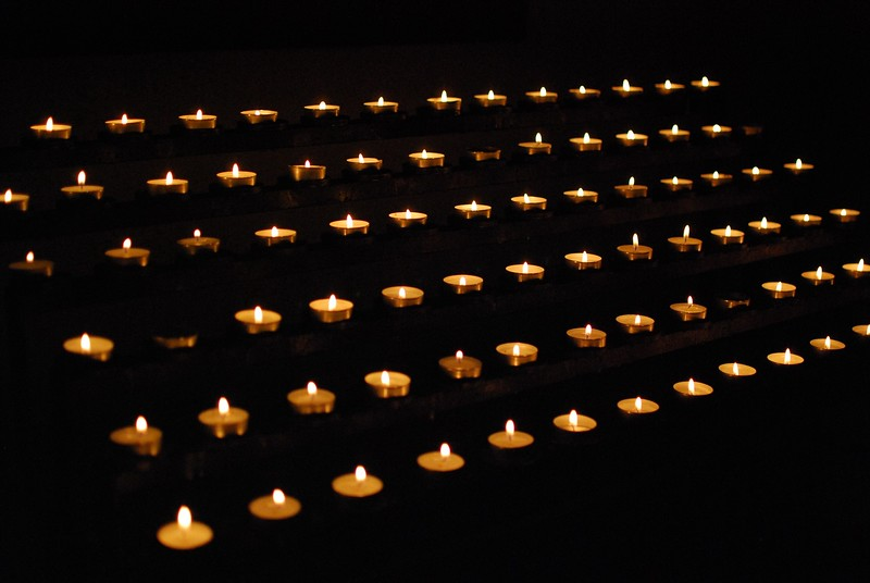 Candles in St. Niclaus Church in Bensberg