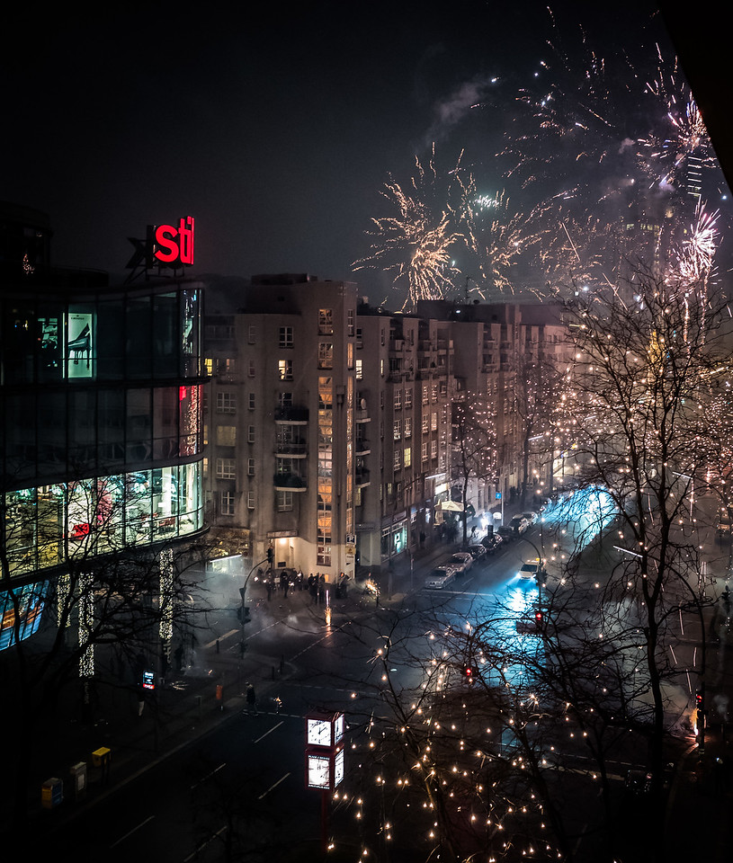 New Year Fireworks in Berlin