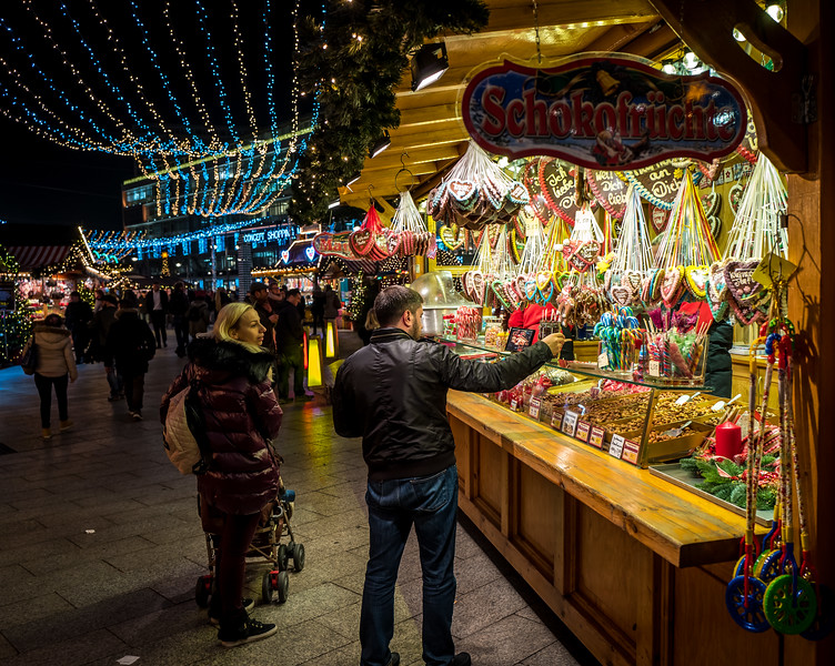 Christmas market near Kaiser Wilhelm Church, Berlin