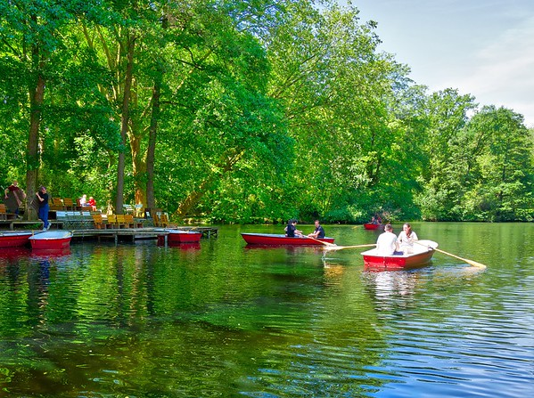 Boats at Neue See, Tiergarten