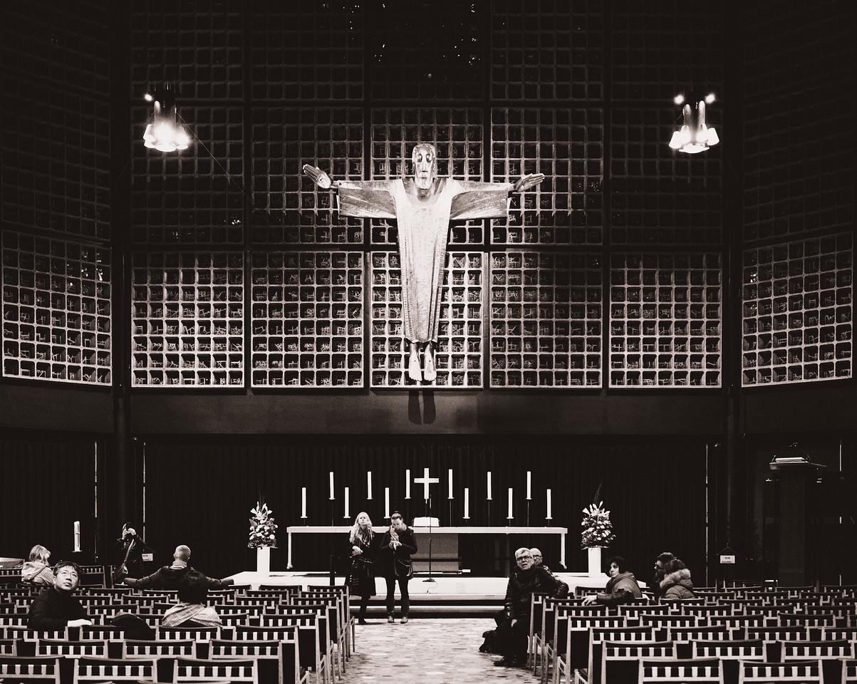 Inside the church in Berlin