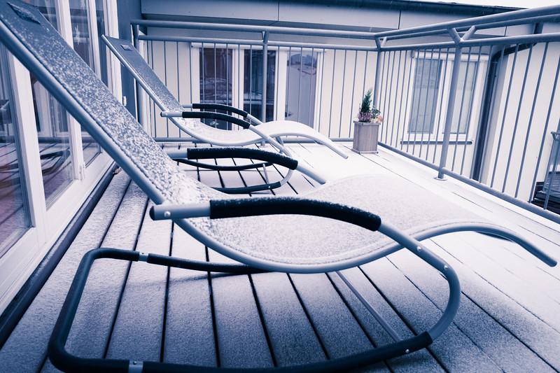Winter terrace