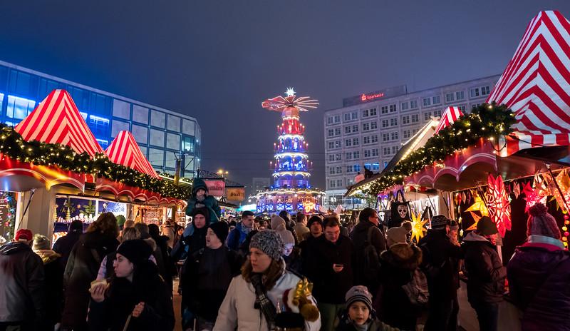 Christmas market on Alexander platz, Berlin