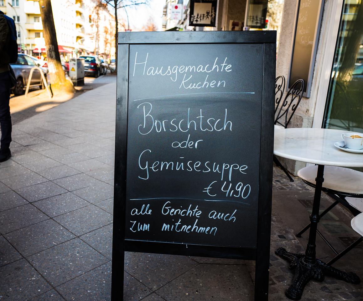 Borscht in Charlottenburg, Berlin