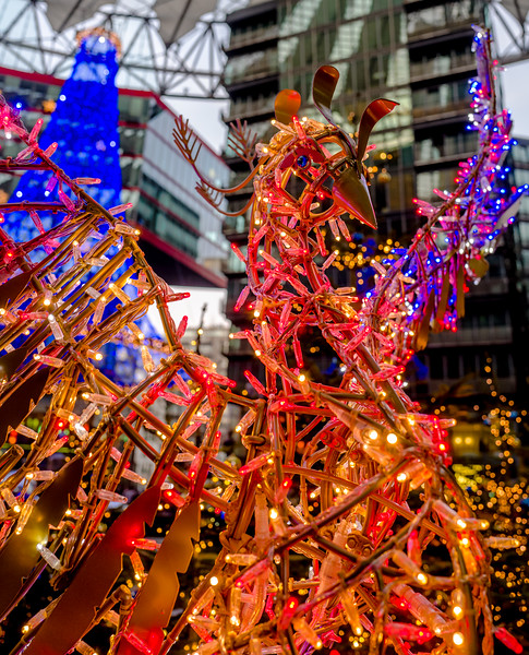 Sony Center in Berlin before Christmas