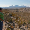 Chisos Mountains view from Old Ore Road.