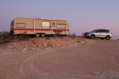 My trailer.  My home in Terlingua.