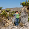 The Yucca plants are bigger than you may realize, until you stand next to one.