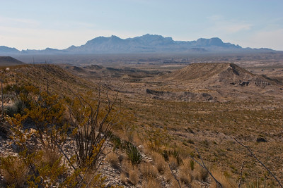 Another view of the Chisos Mountains from Old Ore Road.