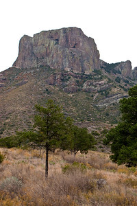 Casa Grande peak looms above the basin, inside the Chisos Mountains.