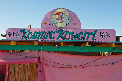 "The eclectic Kathy's Kosmic Kowgirl Kafe, Study Butte, Texas is a ""must"" when visiting Big Bend."