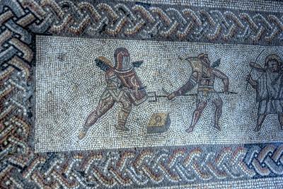 Gladiator Mosaic at Bignor Roman Villa