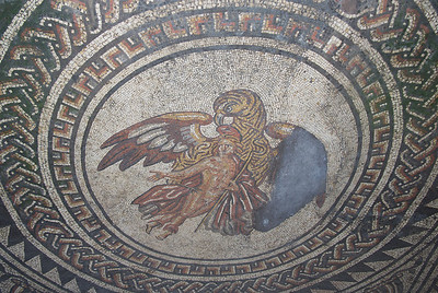 The Ganymede Mosaic at Bignor Roman Villa