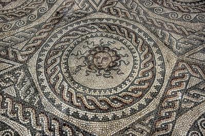 Medusa Mosaic at Bignor Roman Villa