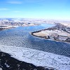 Lake Francis Case, winding and frozen.