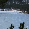 Ice fishing on Pactola Reservoir
