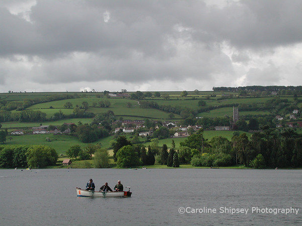 Blagdon village viewed from across the lake
