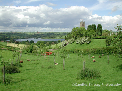 Blagdon church from Bath Road