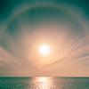 22° halo around the sun