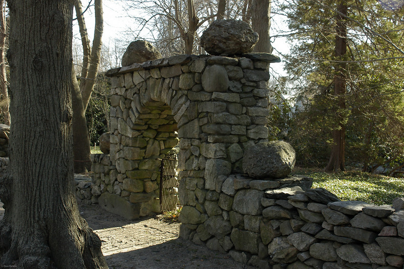 Stone Arched Gate. <br /> <br /> As a kid this was as far up the road from my Parent's house as I could go!