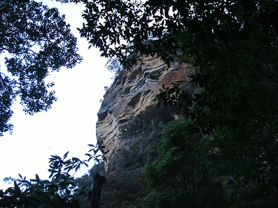 Blue mountain cliff