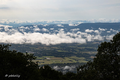 The Big Meadow Lodge is as 3600 feet, and this is what it looked like from the deck when the clouds got funky.