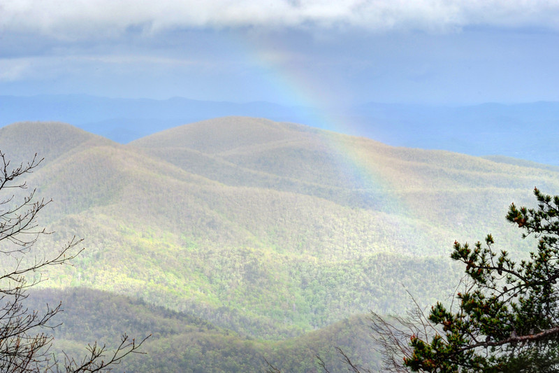 Rainbow over Laurel Knob