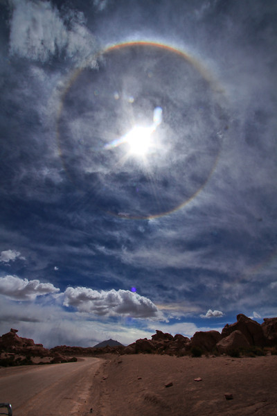 A Sun Dog, in the middle of the desert...