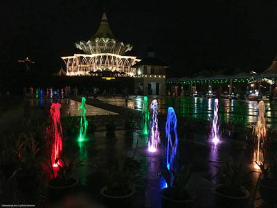 Kuching Night Lights, Sarawak Malaysia
