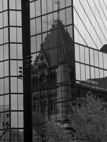 Trinity Church Reflected In The Prudential Tower<br /> Boston, MA