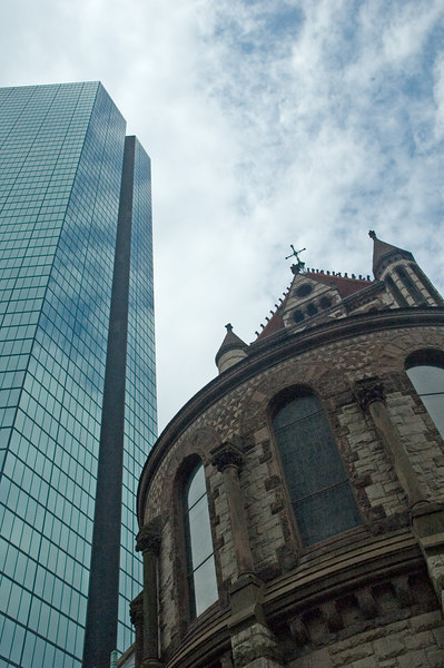 Reach For The Sky<br /> Prudential Tower & Trinity Church