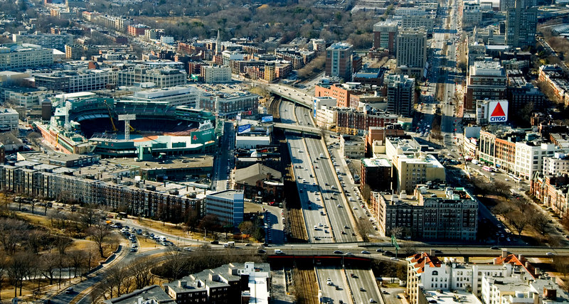 Fenway Park and Citgo sign, Boston.