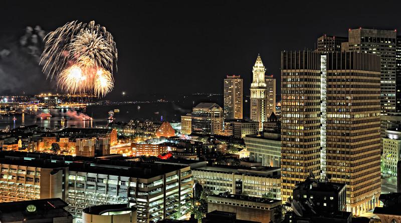 Boston Wedding Fireworks