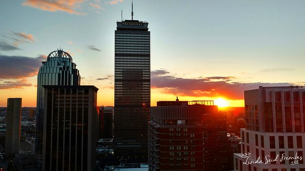 Sunset from the 27th floor