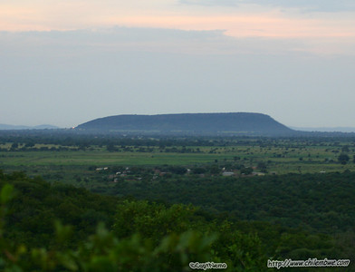 view from top of the world, looking towards Mokolodi village, at Mokolodi Game preserve, near Gaborone, Botswana