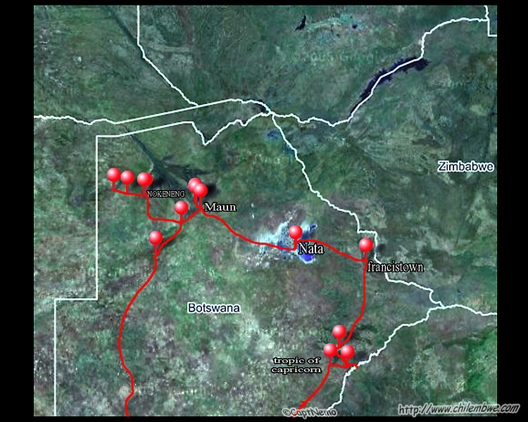 Our route as tracked by my gps(roughly, as I turned it off a lot)- travelling counter clockwise.