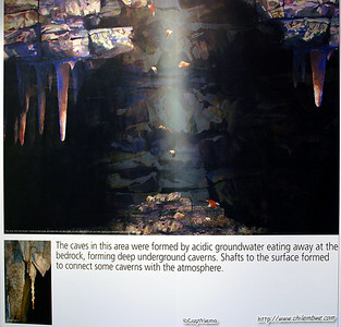 Museum at Sterkfontein, display about how caves are formed.
