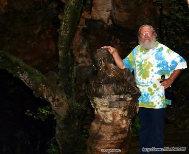 Dad at Sterkfontein cave.