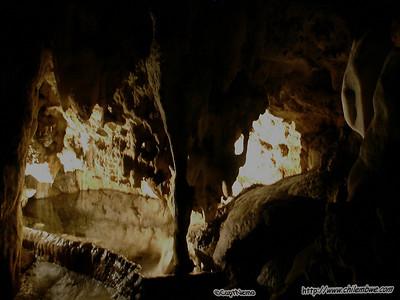 Rimstone dam, Wonder Cave, South Africa.