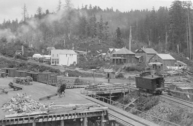 Railroad tracks ran adjacent to the mill as they did for mills in Wheeler, Garibaldi and Tillamook. The rails brought logs from the forests and took lumber to Portland.