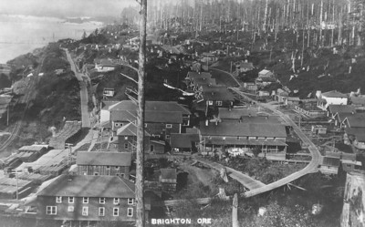 As with most logging and lumber operations, Brighton provided housing for workers.