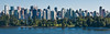 Vancouver skyline, behind Stanley Park